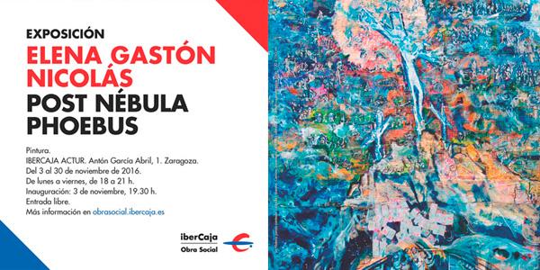 Exposición en Zaragoza. Elena Gastón Nicolás.